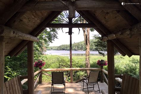 lakefront log cabin rental in adirondack park