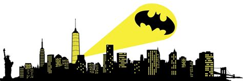 Super Hero Wall Stickers bat signal skyline wall decal