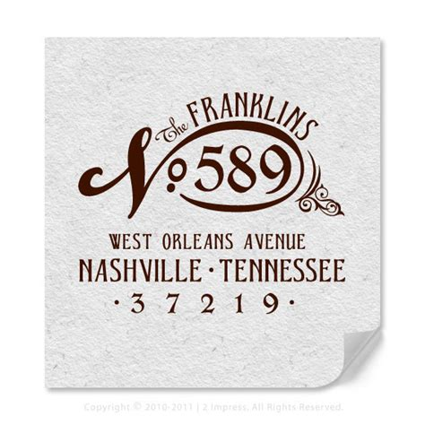personalized address rubber sts vintage style personalized return address rubber st by