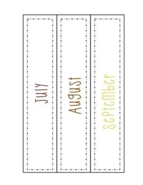 notebook label template monthly idea binder cover spine label freebie free
