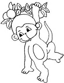 monkey coloring pages coloring pages to print - Monkey Coloring Pages