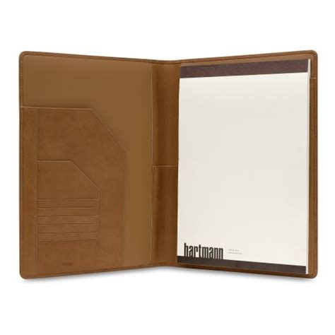 hartmann belting leather writing folio findgift