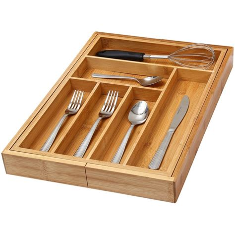 Expandable Cutlery Trays For Kitchen Drawers by Ybm Home Kitchen Expandable 6 Compartment Kitchen