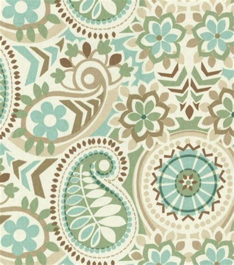 Upholstery Fabric Tulsa by Waverly Upholstery Fabric Paisley Prism Latte Front