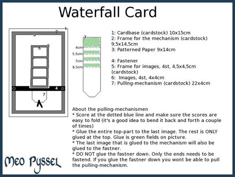 waterfall card template pdf mejores 23 im 225 genes de papeles decorativos en