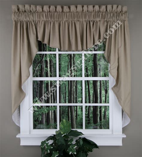 lined swag curtains renaissance emery lined swag set 45 quot l taupe kitchen