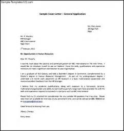 Exle General Cover Letters by General Application Cover Letter Sle Pdf Template Free Sle Templates