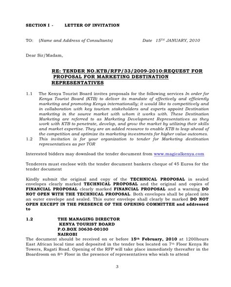 appointment letter kenya request for proposals rfp for recruitment of market