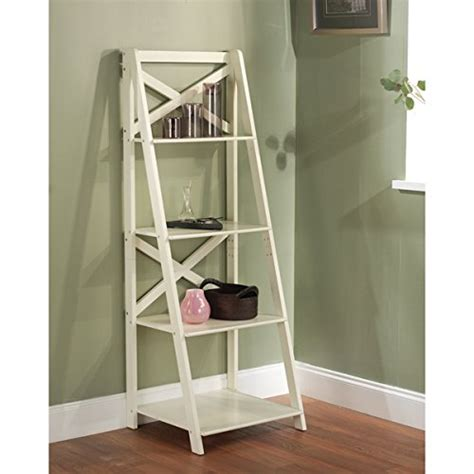 white ladder shelves best 22 leaning ladder bookshelf and bookcase collection for your home office