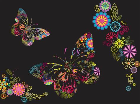 and butterfly flowers and butterflies background