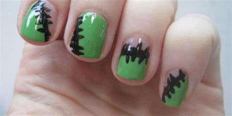 tutorial nail art sederhana untuk kuku pendek tutorial nail art frankenstein untuk pesta halloween