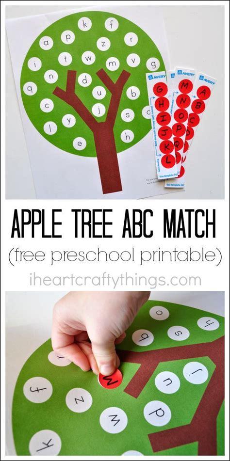 apple tree preschool fun apple tree abc match preschool printable apple tree