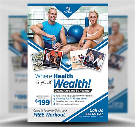 Fitness Flyer Templates by Fitness Flyer Template Flyerheroes