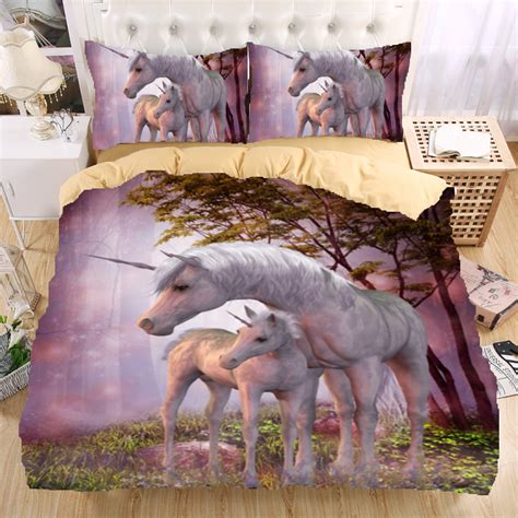 unicorn bedding twin unicorn 3d bedding set monocerus print duvet cover set twin queen king beautiful
