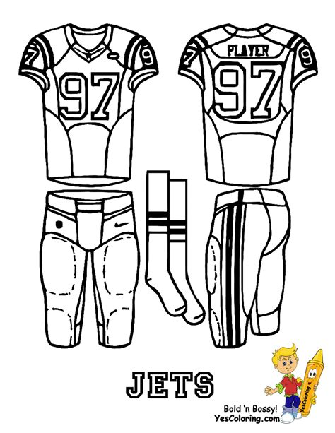 nfl uniform coloring pages printable images of football uniforms