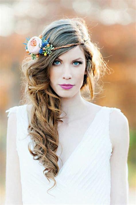 Schöne Brautfrisuren by Brautfrisur Mit Blumen 44 Einmalige Fotos Archzine Net