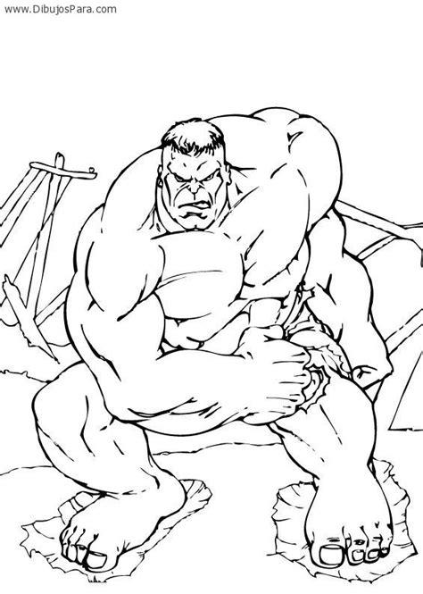dibujos para pintar hulk dibujo de hulk musculoso dibujos de hulk para pintar