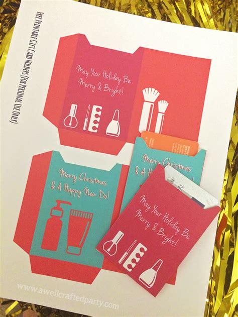 printable card holder beauty stocking stuffer gift guide free gift card holder