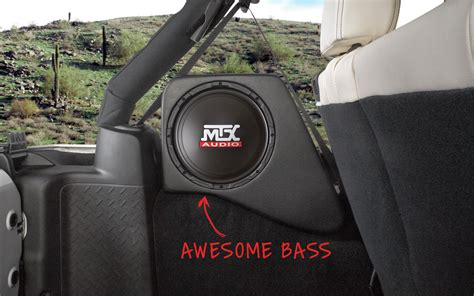Jeep Wrangler Sub Box Jeep Wrangler Jk 2007 2016 Thunderform Custom Subwoofer