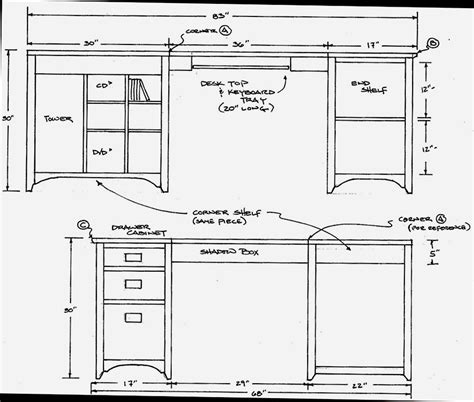 Free Corner Computer Desk Woodworking Plans Woodplans Desk Plans Free