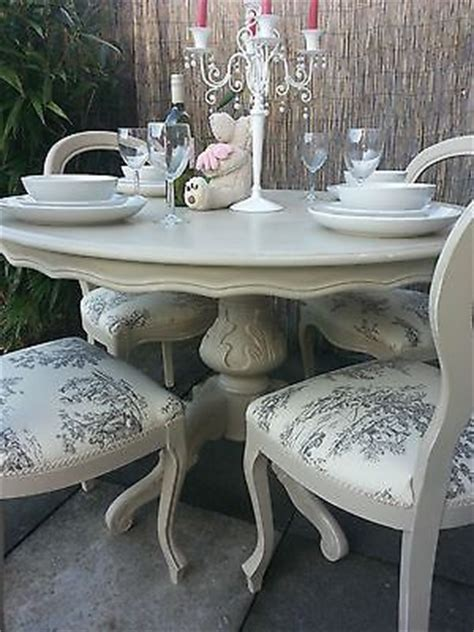 shabby chic dining chairs french shabby chic louis dining table and balloon back