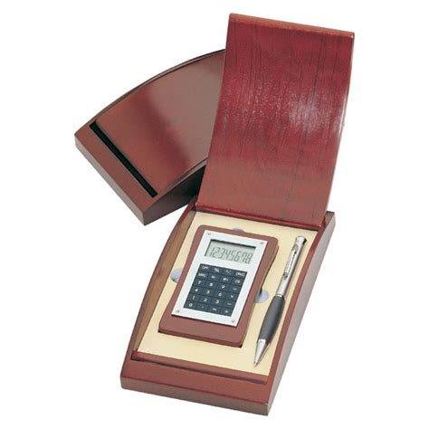 Wedding Gift Calculator Free by Personalized Wooden Calculator And Silver Pen Gift Set