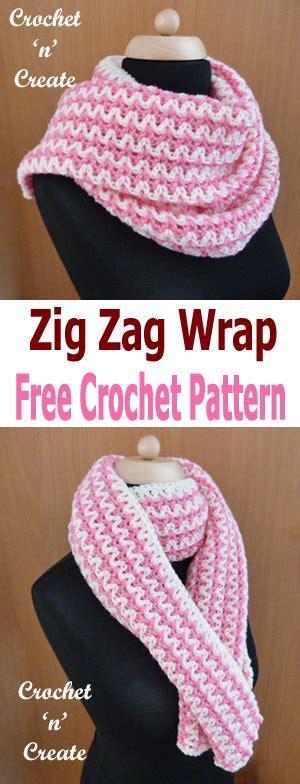 zig zag crochet braid pattern crochet zig zag wrap free crochet pattern crochet n create