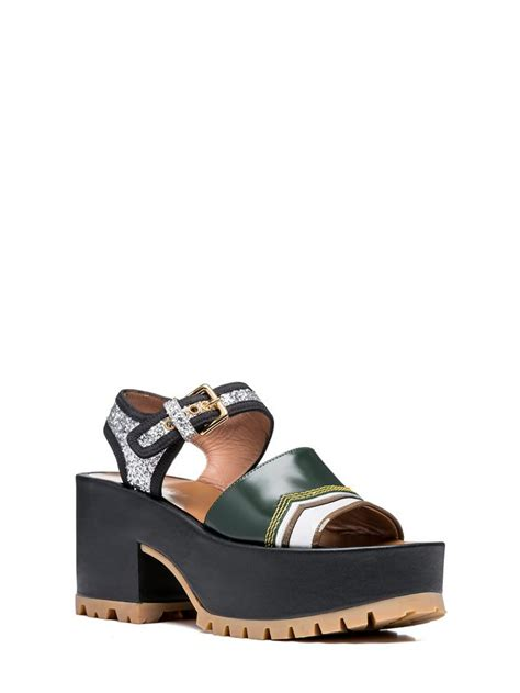 Wedges 2 Ban one band wedge in shiny calfskin from the marni