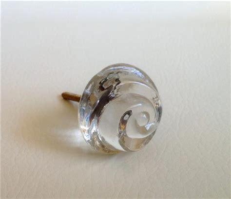 clear glass swirl cabinet furniture knobs pulls