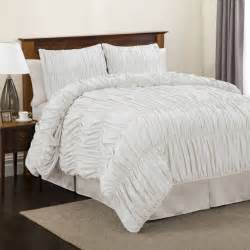 lush decor venetian 3 piece white comforter set twin