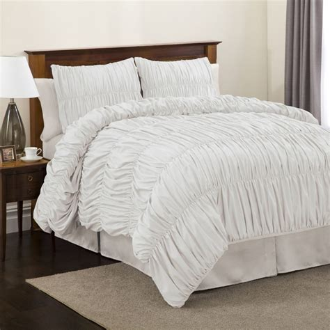 twin bed comforters sets lush decor venetian 3 piece white comforter set twin