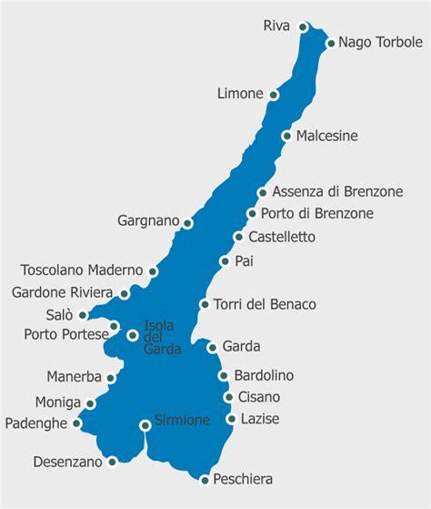 Lago Di Garda by Jezero Lago Di Garda Mapa