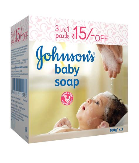 Johnsons Baby 100g johnson s baby soap 100 g 3 s pack buy johnson s baby