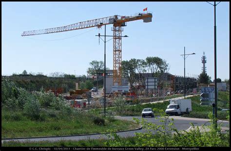 chantier de l immeuble de bureaux green valley chrispics