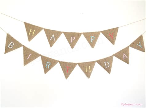 Bunting Flag Happy Annivesary personalised bunting custom banner boho hessian burlap rustic wedding birthday jdog t