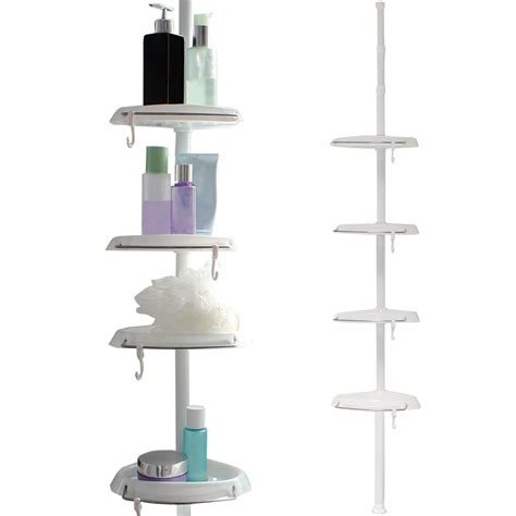 White Corner Shower Shelf by White Corner Shower Bathroom Tidy Basket Caddy Shelf