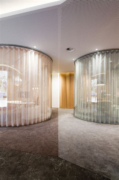 conference room curtains rabobank retail banking center by storage the hague