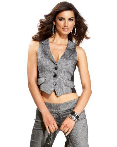 10 Sexiest For The Office From Bebe by 8 Italian Topstitched Twill Vest 10 Sexiest For