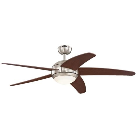 Westinghouse Light Ceiling Fan Icon Westinghouse Bendan Led 52 In Led Brushed Nickel With
