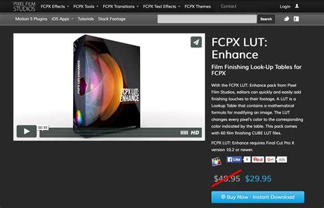 final cut pro lut pixel film studios releases fcpx lut enhance for final cut