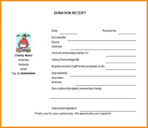 gift in receipt template gift in receipt template donation invoice donation
