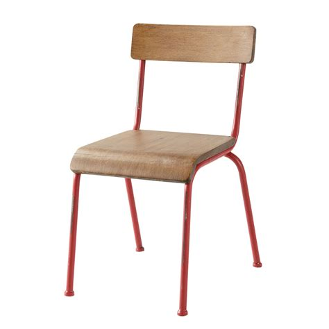 what is chaise chaise enfant rouge school maisons du monde