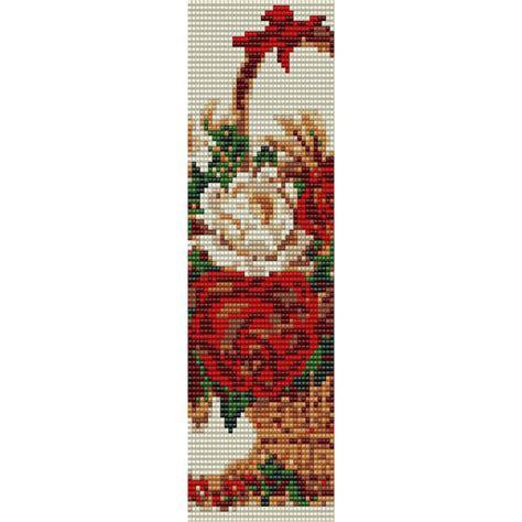 bead loom flower patterns flower basket loom bead pattern bracelet cuff bookmark seed