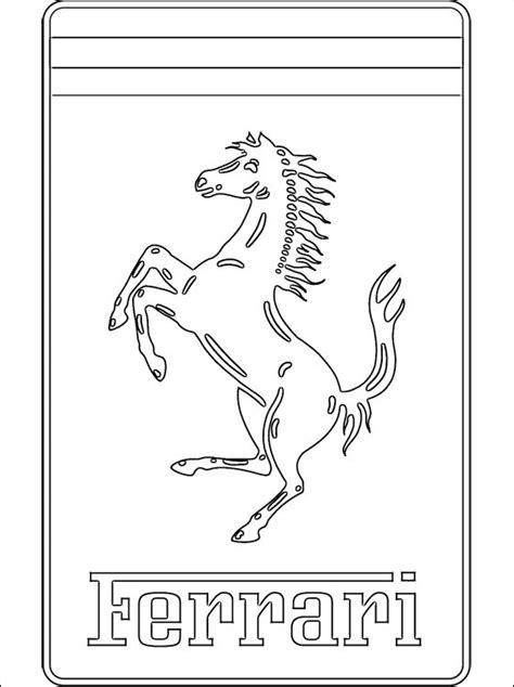 ferrari logo coloring coloring pages