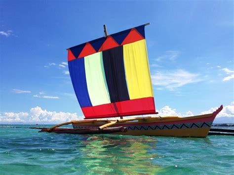 vinta boat drawing vinta at samal island walk and look