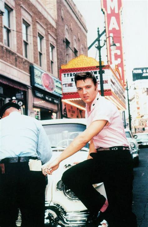 haircuts downtown memphis elvis presley outside jim s barber shop on main street in