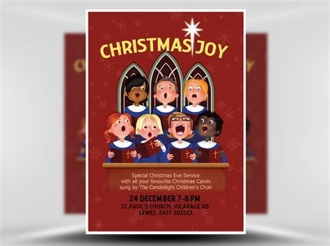 themes for christmas carol service christmas choir flyer template flyerheroes
