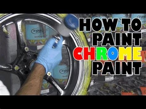 how to paint how to paint chrome paint