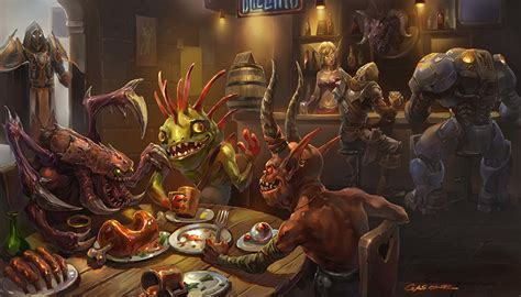 of warcraft table photo demons monsters bar horns blizzard