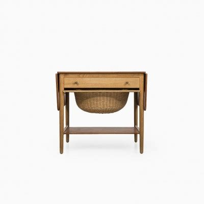 at 33 sewing box side table by hans wegner for andreas